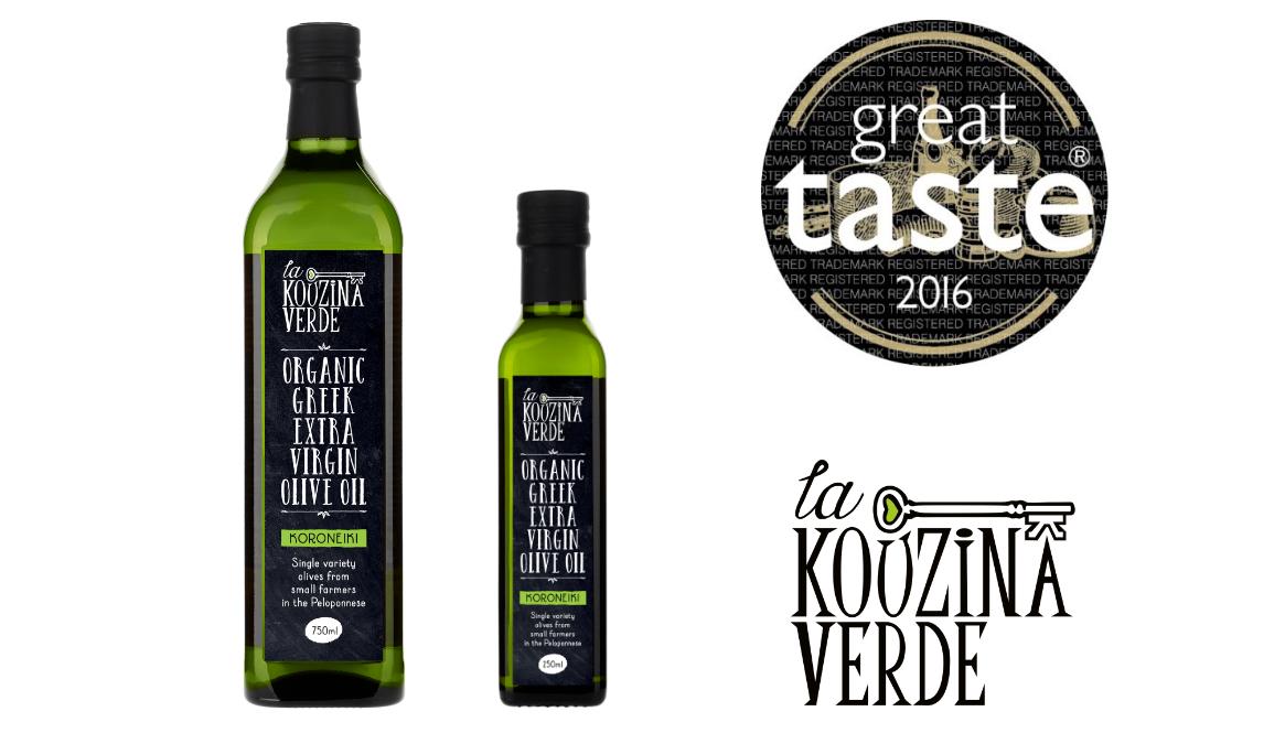 Great Taste Awards: La Kouzina Verde Organic Greek Extra Virgin Olive Oil wins Gold Star